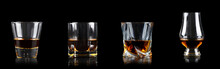 Set Of Four Glass Of Whiskey O...