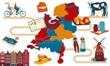 Netherlands Travel Postcard, M...