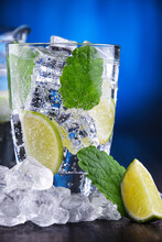 Glass Of Mineral Water With Ic...