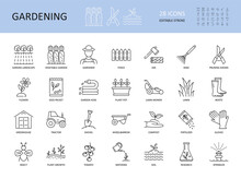 Vector Set Of Gardening Icons....