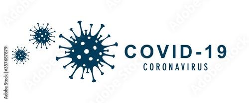 Obraz Coronavirus vector banner with global pandemic concept illustration. Coronavirus 2019-nCoV background. Virus Infection. - fototapety do salonu