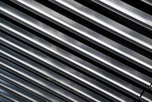 Diagonal Metal Bars With Black...