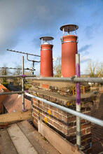 Chimney Pots And Scaffolding, Roof Repairs, UK