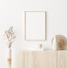 Mock Up Frame In Home Interior...