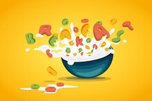 Food Lettering Cereal Oats Rin...