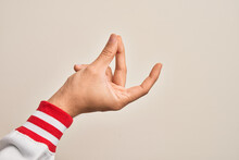 Hand Of Caucasian Young Man Sh...
