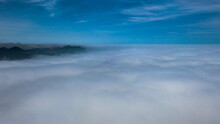 Aerial Photos Of Cities Under Clouds, Clouds In The Sky