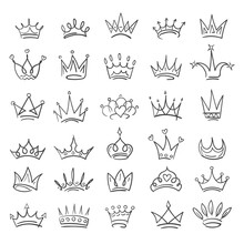 Doodle Sketch Crowns Collection