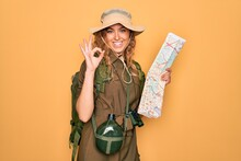 Young Blonde Explorer Woman Wi...