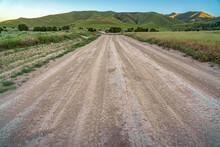Rough Road On A Scenic Hill La...