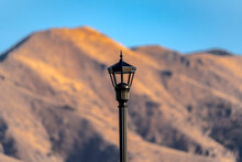 Exterior Black Retro Wrought Iron Street Lamp
