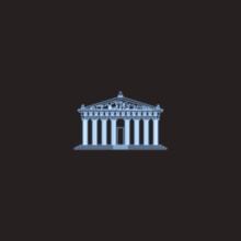 Parthenon In Nashville City In USA Neon Illustration