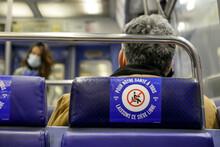 Sticker In Paris Metro During ...