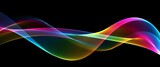 Fototapeta Tęcza -  Abstract rainbow light wave futuristic background