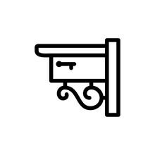 Mailbox Icon Line Art Design