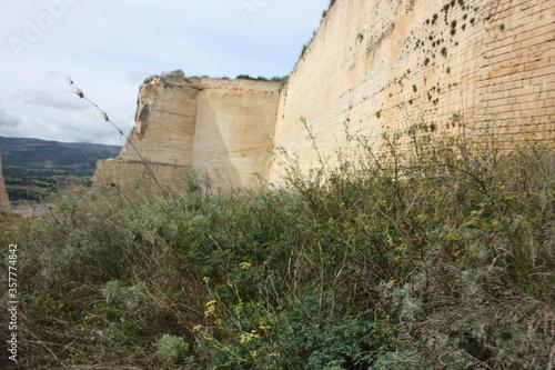 Abandoned karst cave in Monteleone Rocca Doria, Sardinia, Italy Fototapet