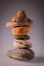 Closeup Shot Of A Balanced Sto...