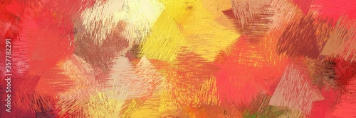 Photo creative brush strokes background with moderate red, khaki and sandy brown