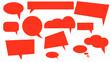 Leinwandbild Motiv chat cloud dialog icon, vector illustration