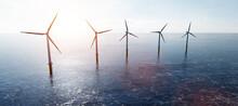 Offshore Wind Turbines Farm On...