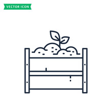 Compost Pile Line Icon. Zero Waste Symbol. Vector.