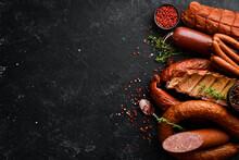 Set Of Sausage, Salami And Smo...