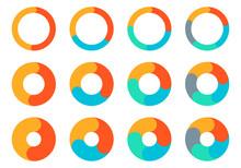 Pie Chart Set. Circle Diagram ...