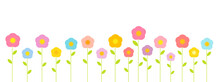 Summer Colorful Pastel Flowers...