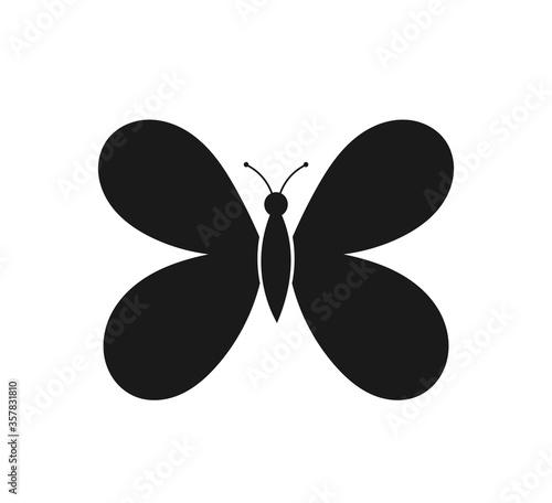Cuadros en Lienzo Butterfly black icon.