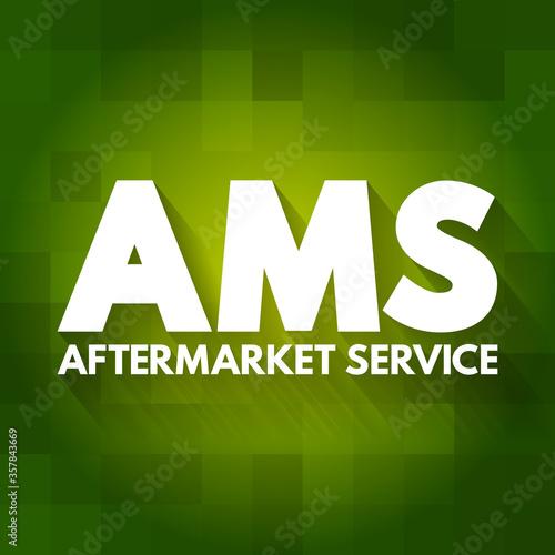 AMS - AfterMarket Service acronym, business concept background Canvas Print