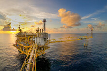Offshore Oil And Gas Or Rig Pl...