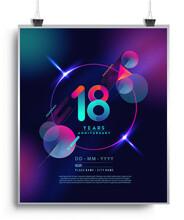 18th Years Anniversary Logo Wi...