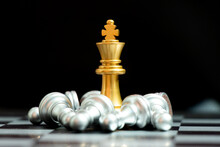 Gold King Chess Piece Win Over...