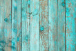 canvas print picture - Weathered blue wooden background texture. Shabby wood teal or turquoise green painted. Vintage beach wood backdrop.