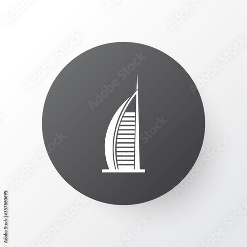 Платно Burj ab arab hotel icon symbol