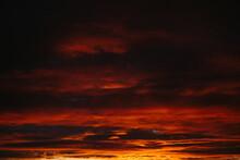 Dramatic Sunset And Sunrise Sk...
