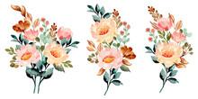 Watercolor Flower Bouquet For ...