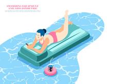 Swimming Equipment Isometric C...