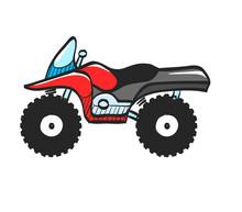 Color Sketch Icon All Terrain Vehicle