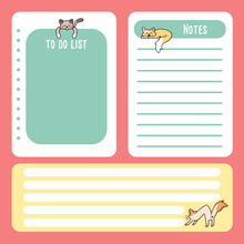 Cute Cat Note Pad Back To Scho...