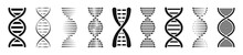 Set Of DNA Or Chromosome Icons...