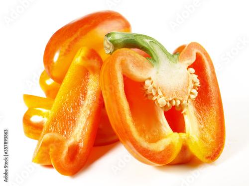 Fotografie, Obraz Gemüsepaprika - gestreift