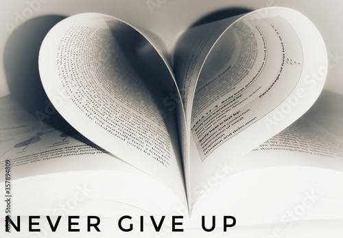Fotomural Motivational quotes about life, Never give up