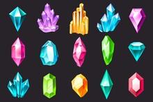 Cartoon Crystals. Colorful Jew...