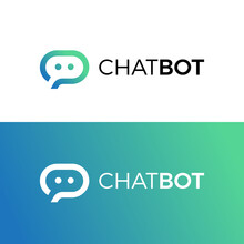 Bubble Chat   Robot. Chatbot Logo. Icon Vector.