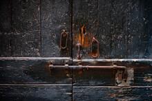 Old Rusty Lock On Door