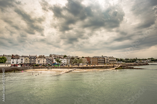 Fototapeta Beautiful view of Ryde,Isle of Wight,june 28 2018,Ryde has a great selection of boutique shops,museums and galleries for you to visit along with lots of other things to see and do along its esplanade