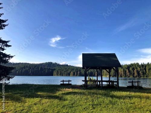 Carta da parati gazebo on the lake