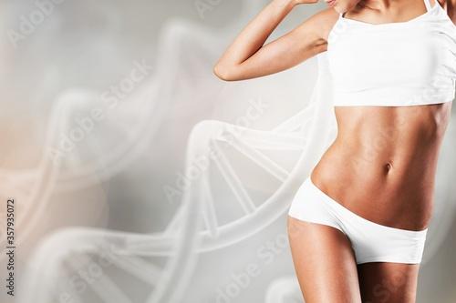 Fotografie, Obraz Beautiful young sports slim woman body