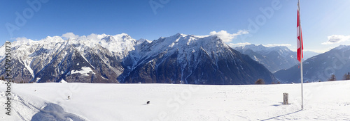 Mountain panorama of the ski area in the Lepontine Alps #357935873